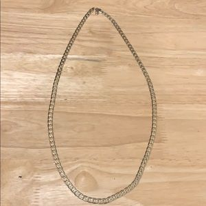 """14k gold chain link necklace 30"""""""